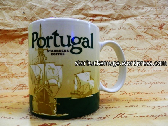 Starbucks Portugal Icon Mug with Cross on Sail
